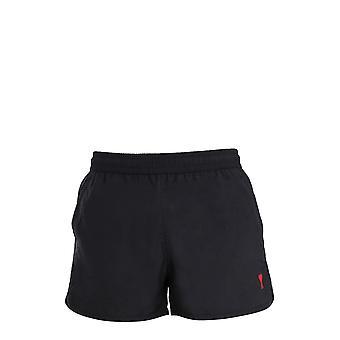 Ami E21hbw01393001 Men's Black Polyester Trunks