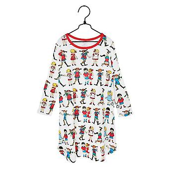Pippi Langkous Vrienden Nightgown (Wit) 86/92 cl
