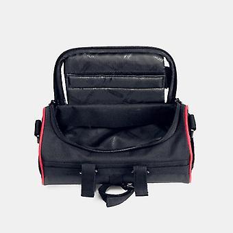 Roswheel multifunctional with transparent pvc view bicycle handlebar storage bag for mobile phone below 6 inch (black)