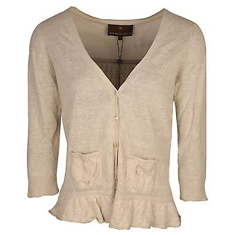 Fenn Wright Manson Cream Fine Knit Linen Blend Cardigan With Front Pockets