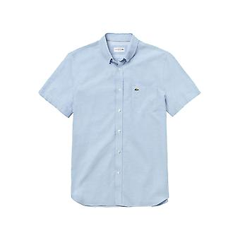 Lacoste Men's Oxford Cotton Shirt Regular Fit Blue