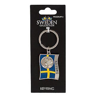Chaveiro Bandeira de Lembrança Moose Suécia