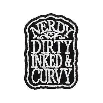 Grindstore Nerdy Dirty Inked & Curvy Patch