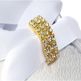 Guld Crystal Tag sko Charms