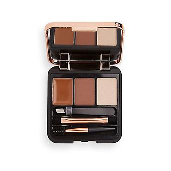 Make-up Revolution Brow Sculpt Kit - Medium Brown