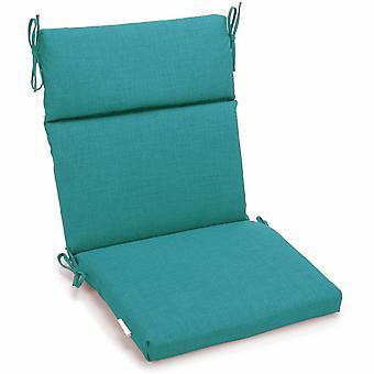Coussin de chaise carrée extérieure en polyester de 22 pouces par 45 pouces - Aqua Blue