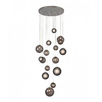 Conetti 16 Bulbs Design Colgante Cromo Pulido
