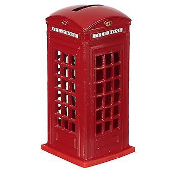 Lontoon matkamuistokynä rahalaatikko - punainen puhelinkopu