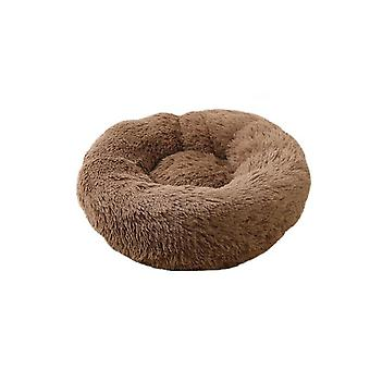 Plush Donut Dog,cat Bed, Round Self Warm Calming Pet Bed, Cuddler Kennel Soft