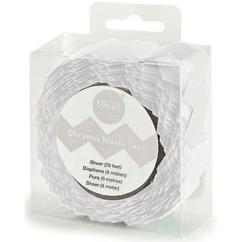 We R Memory Keepers Chevron Washi Tape - Sheer