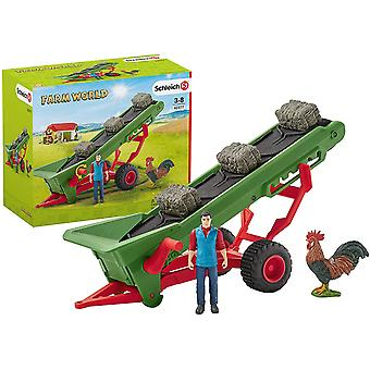 Schleich Farm World - Transportador de Feno com Agricultor
