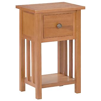 mesa de jornal vidaXL com gaveta 35x27x55 cm de carvalho de madeira maciça