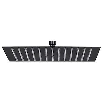 vidaXL Rain shower stainless steel 30x30 cm square Black
