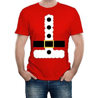 Reality glitch men's santa suit fancy dress costume t-shirt