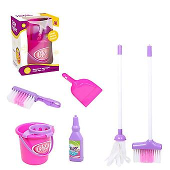 Children's Play House Simulation Mini Cleaning Tools,, Broom Mop Toy Set