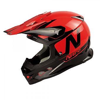 Nitro MX700 Motocross Helmet Black Red Gloss