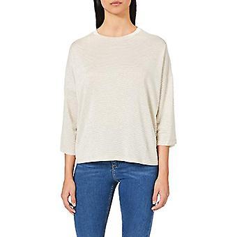 Herrlicher Keily Basic Stripped Glitter Jersey T-Shirt, Feather 172, M Woman