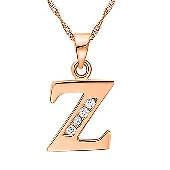 Necklace with pendant in the shape of a letter of the alphabet, for men and women. and base metal, color: Letter Z rose gold., cod. Ref. 4058433105348