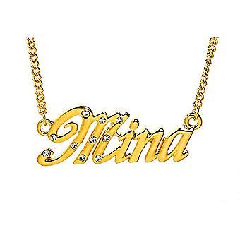 "L Mina - 18-karat forgyldt halskæde, justerbar 16 ""- 19"" Kæde, i regal emballage"