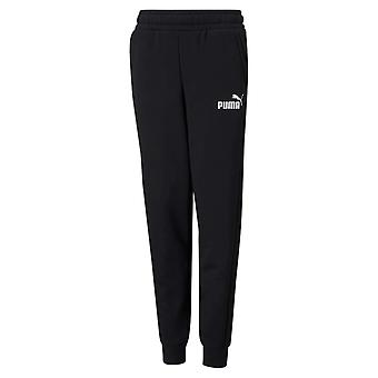 Puma Essential Logo Kids Fleece Sweat Track Pant Trouser Black