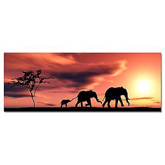 Malarstwo rodziny słoni afrykańskich