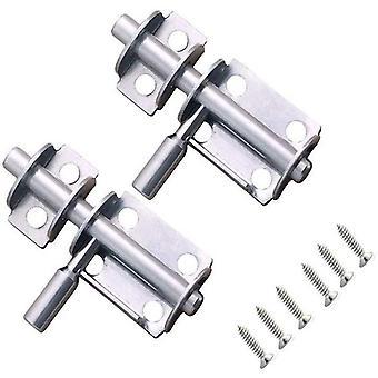 2 Stück Edelstahl Türriegel Mini Verschluss Riegel 65mm Bolzenriegel Grendelriegel Riegelschloss