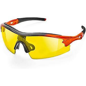 Reevo Schutzbrille für Arbeit und Sport HD gelbe Linse verbessert die Sicht bei schlechtem Licht,