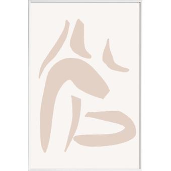 JUNIQE Print - Into Dust - Affiche abstraite et géométrique en blanc crème et blanc