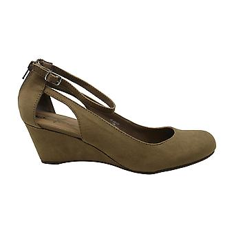 American Rag Womens Miley Fabric Closed Toe Ankle Strap Wedge Pumps