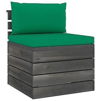 vidaXL 2 pezzi. Set di divani da giardino in pallet con cuscini in legno di pino