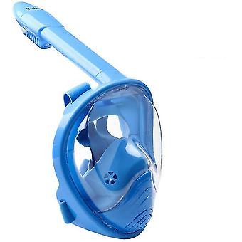 Blue kids snorkeling mask full face ,180¡ã panoramic view anti-leak,xs for kids,copoz az6113