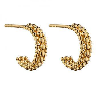 Begynnelse Gul GullBelagt Multi Perle 3/4 Hoop Øredobber E6009