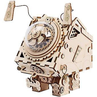 Diy Musik-Box-Kit mit einem schönen Song-Wind-up-Musik-Box-Mechanismus-3d Holz Puzzle Gebäude Set-Bau-Modell-Kits dt6126