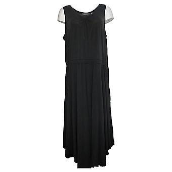 Lisa Rinna Collection Plus Dress Asymmetric Hem Tank Black A365774