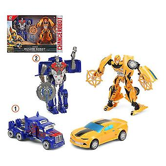 Transformable Super Robot Blue Yellow 111575 (2 Uds)