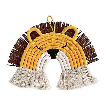 قوس قزح الجدار الديكور- حبل نسيج، شرابة المنسوجة شنقا