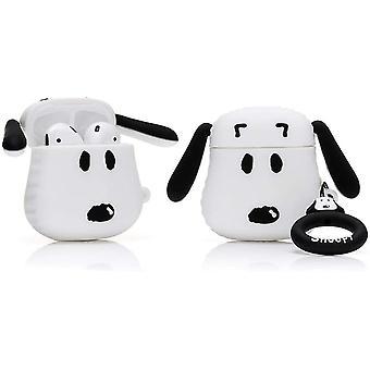 Capa de silicone protetor para Apple Airpods 1 e 2, Cartoon-Snoopy Pattern 1pc