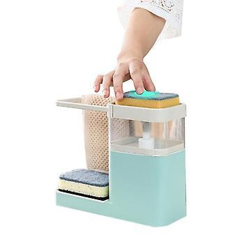 Spons drain zeep dispensers met spons pomp dispenser veegrek