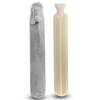 בקבוק מים חמים 2L גומי ארוך עם כיסוי פליז רך לצוואר, גב, רגליים וכתפיים | פוקאר