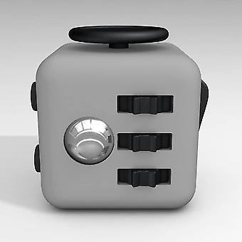 Fidget Cube Stres Anxietate presiune ameliorarea jucărie Mare [jucărie relaxantă] [eliberarea de stres] (Darkgray)