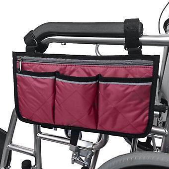 Rolstoel armleuning kant opbergtas draagbare zak geschikt voor de meeste loopwielen en mobiele apparatuur accessoires