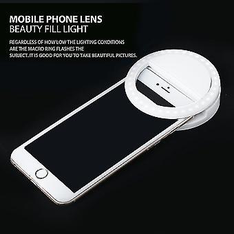 Portable Selfie Light Ring Clip Lampe Lumineuse Led Flash Light Téléphone Ring