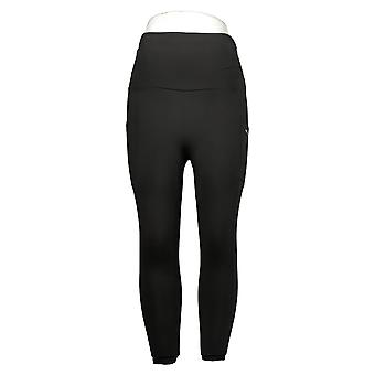 MIND BODY LOVE By Peace Love World Petite Leggings RuchedWaist Black A380144