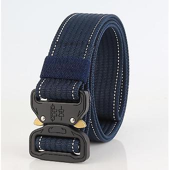 New cobra buckle tactical belt male army belt(Royal Blue)