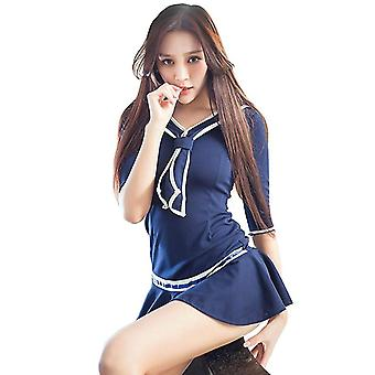 Women''s Classic Pleated Mini Dress With Bowknot For Sports