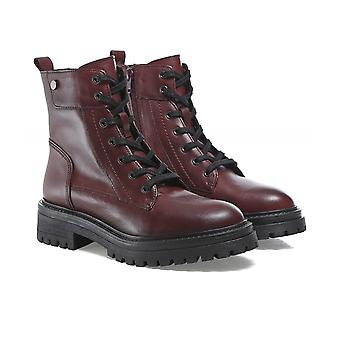 Geox Iridea Leather Lace Boots