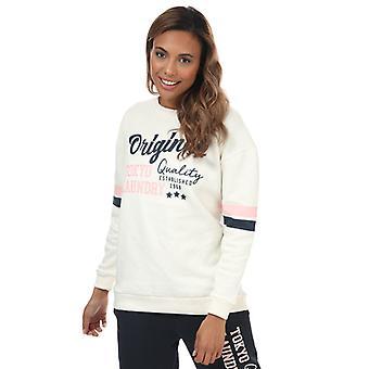 Women's Tokyo Laundry Biscuit Crew Sweatshirt in Cream
