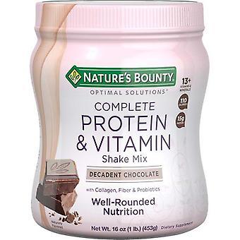 Naturens Bounty Optimala Lösningar Protein Pulver Med Kollagen, Choklad, 1 lb