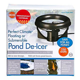 K & H Perfect Climate Delux De-Icer - 250 Watts - For Ponds up to 1,000 Gallons