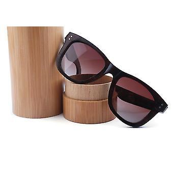 Uchwyty na okulary naturalny bambusowy cylinder do okularów przeciwsłonecznych
